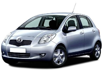 Rent a Toyota Yaris in crete gouves intercar