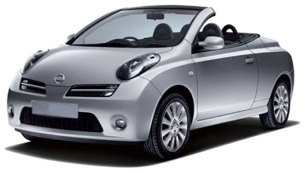 Rent a Nissan Micra Cabrio in crete gouves intercar